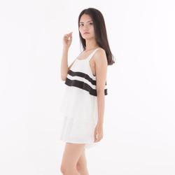 Set áo quần  trắng đen siêu xinh