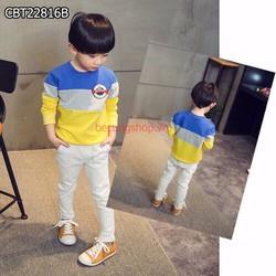 Bộ áo thun 3 màu phối quần jean thun co giãn từ 2-9 Tuổi_CBT22816