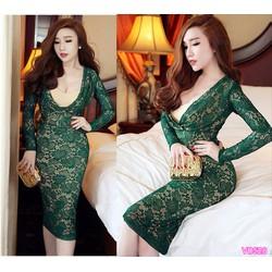 Đầm ôm tay dài giống BELLE - VD528