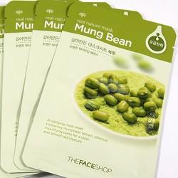 Mặt nạ đậu xanh - Real Nature Mask Sheet Mung Bean