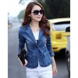 Áo khoác Jeans nữ cao cấp kiểu vest
