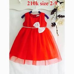 Đầm Dạ hội voan chiffon cho bé gái