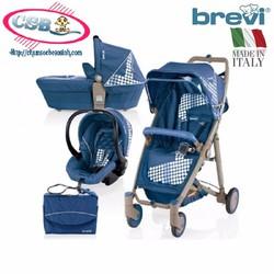 Xe đẩy trẻ em Brevi Crytal 3 trong 1 BRE719