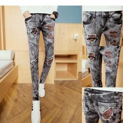 quần jeans nam rách túi lửa Mã: ND0848