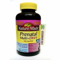 Bổ sung dinh dưỡng cho bà bầu và thai nhi Nature Made DHA 200mg