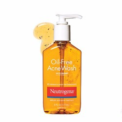 Sữa rửa mặt siêu kiềm dầu và trị mụn Oil-Free Acne Wash 177ml