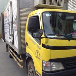 Cần bán gấp xe tải cũ hino thùng đông lạnh tải 3t45 đời 2008