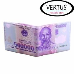 Ví Da Loại 1 Hình Dáng Tờ Tiền 500.000 Đồng