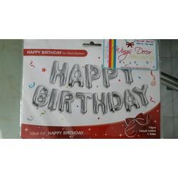 Bóng chữ happy birthday trang trí sinh nhật