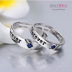 nhẫn đôi tình yêu forever lung linh lãng mạn SPR-JZ067