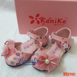 Giày búp bê bé gái Kenike đính nơ hoa