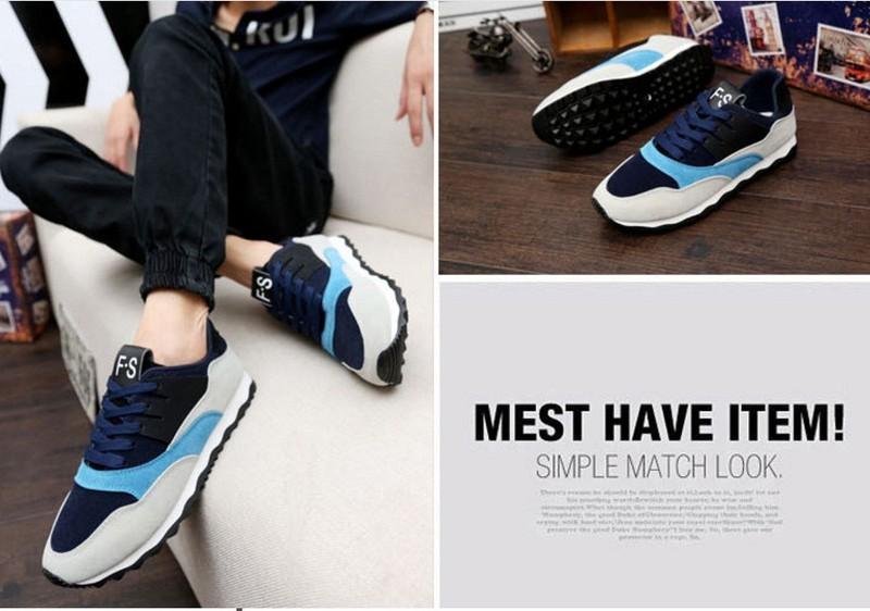 Giày thể thao nam phối mầu thời trang 7
