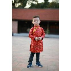 Bộ áo dài cách tân bé trai đẹp đón tết
