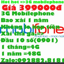 sim 3G mobilephone xài 1 năm không nạp tiền tặng kèm 1 sim 092