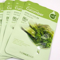 Mặt nạ dưa leo - Real Nature Mask Cucumber Thefaceshop