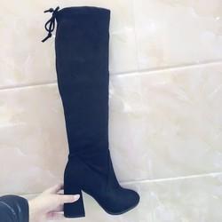 Giày boot nữ buộc dây, dưới gối