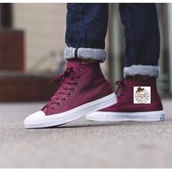 Giày vải cao cổ đỏ đô 07
