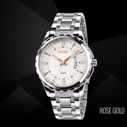 Đồng hồ nam SKMEI 9069 - kim vàng viền trắng