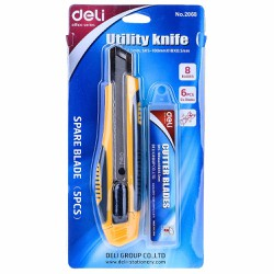 dao gọc giấy đạ kèm lưởi dao 0.5x18.100 Deli 2068