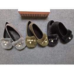 Giày búp bê lót lông