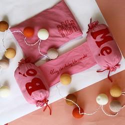 gối chặn vỏ đậu xanh trẻ sơ sinh handmade cao cấp Happy Child