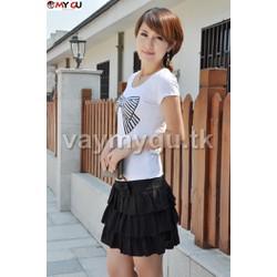 Chân váy xếp ly xinh xắn cao cấp V34 - Màu đen