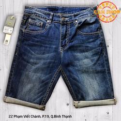 Quần lửng jeans wax xanh - D125