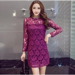 Đầm suông phối ren hoa thời trang cao cấp - #10735