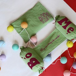 gối vỏ đậu xanh trẻ sơ sinh handmade cao cấp Happy Child