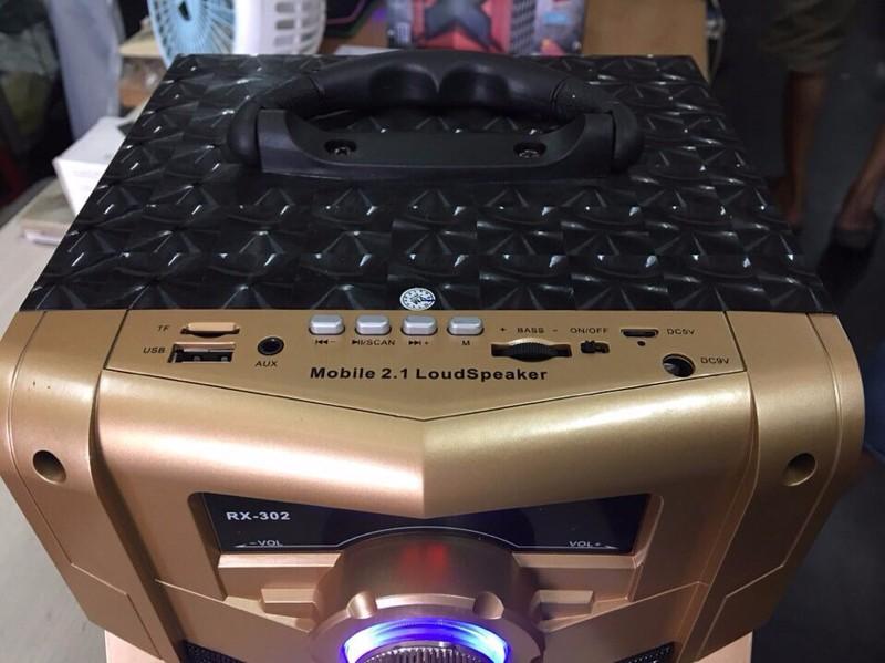 Loa Bluetooth Karaoke RX-302 Tặng Kèm Micro 3