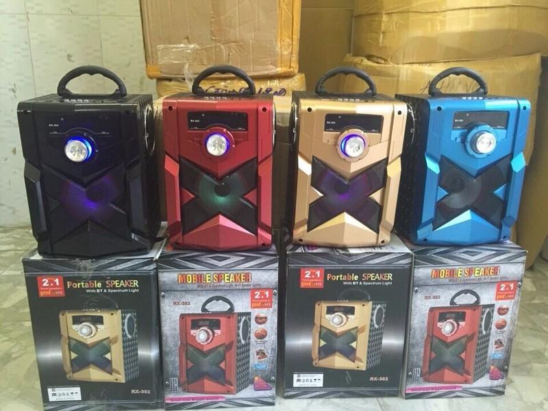 Loa Bluetooth Karaoke RX-302 Tặng Kèm Micro 6