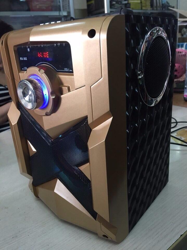 Loa Bluetooth Karaoke RX-302 Tặng Kèm Micro 5