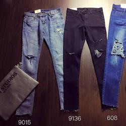 Quần jeans dài was rách