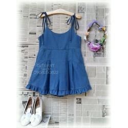 Yếm Jean giả váy Hàng Thái jean dày đẹp