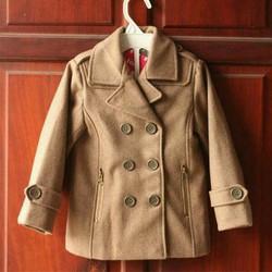 Áo khoác dạ bé trai dáng vest lịch lãm