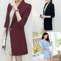 Áo khoác vest form dài 2 lớp