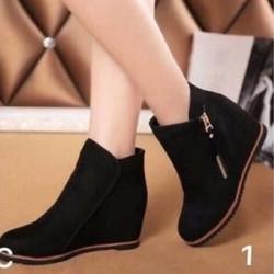 giày boot phối dây kéo nữ 1534