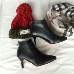 Boot Gót Nhọn Chất Da Cực Đẹp
