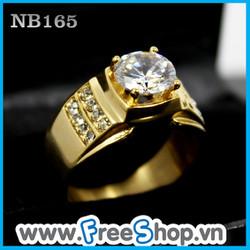 Nhẫn nam đá trắng tinh tế - BH vĩnh viễn ko đen