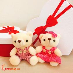 Móc khóa gấu bông cặp 10cm - candyshop88.com