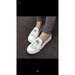 giày slip-on hình mèo đi êm chân