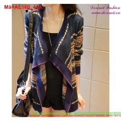 Áo khoác len cardigan hình thổ cẩm cá tính AL160