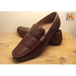 Giày lười nam da bò nâu sang trọng 07