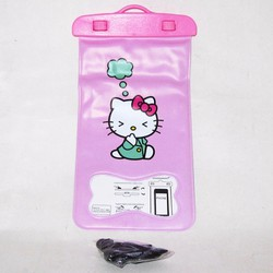 Túi chống nước điện thoại dày hình Kitty suy nghĩ