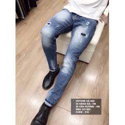 quần jean rách nhẹ