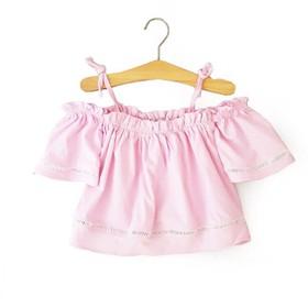 Áo bé gái kiểu hở vai dễ thương từ 9-19kg. Vải kate cát Nhật mềm mịn_vải đẹp- đường may sắc sảo - Red Ant Kids. - AG-1953