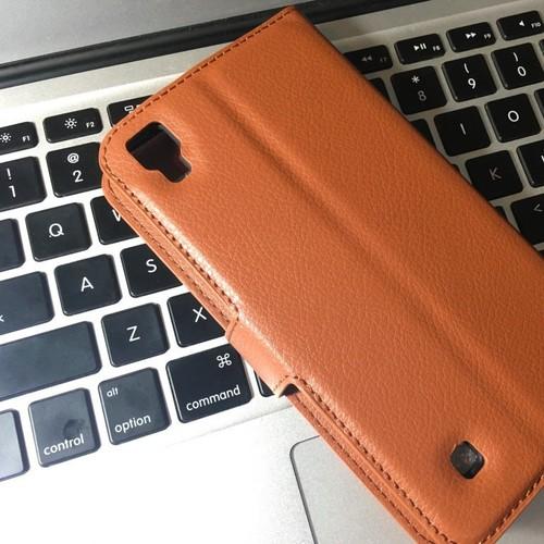 LG-X Power - Bao da PU có khe để thẻ cho điện thoại di động