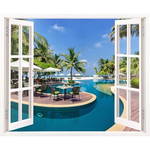 Tranh dán tường cửa sổ 3D VTC cảnh đẹp thiên nhiên VT0171