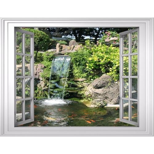 Tranh dán tường cửa sổ 3D VTC cảnh đẹp thiên nhiên VT0172