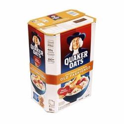 Yến mạch nguyên chất Quaker oats old fashioned 453kg